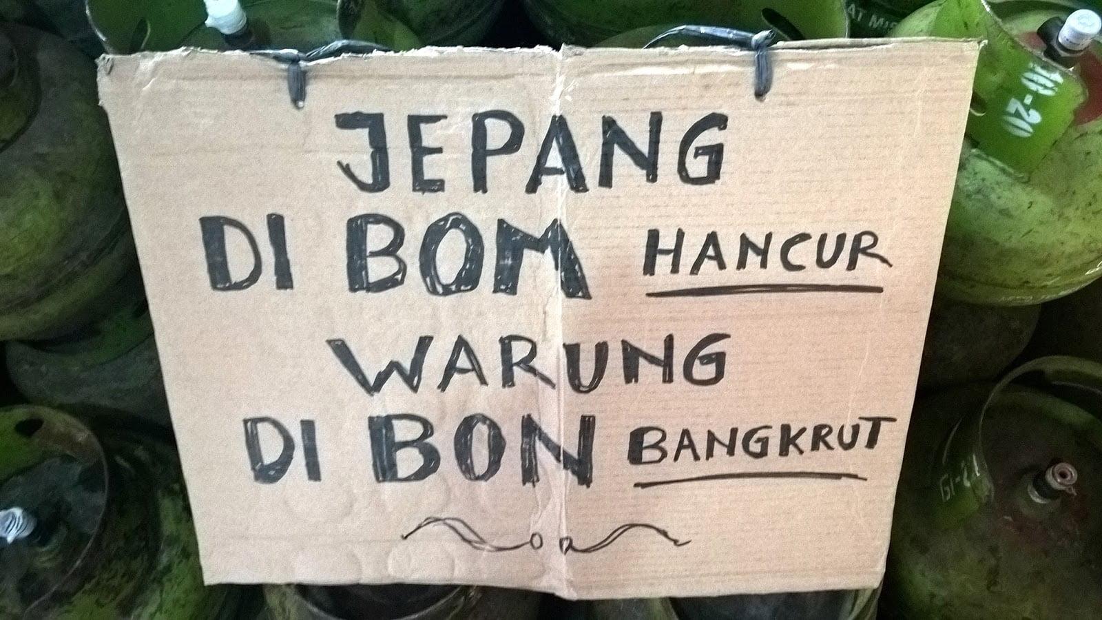 Usaha Warung Dibon Bangkrut